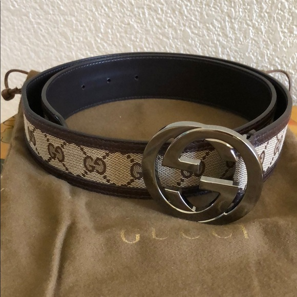 Images For Gucci Belt Serial Number >> Authentic Gucci Gg Monogram Belt